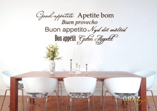 Graz Design: pegatina tatuaje mural con la frase «Buen provecho ...