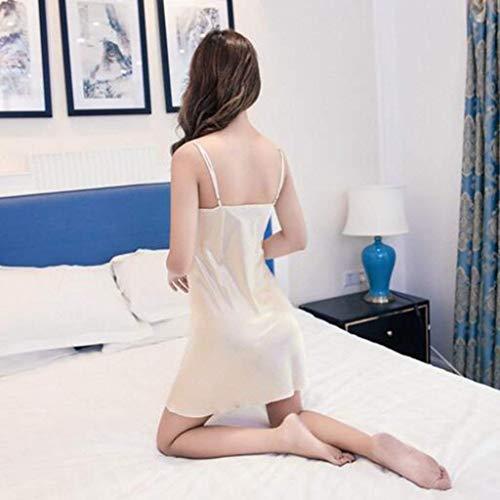 cotone in pettorina Confortevole Fionda Pigiama notte estiva da Large femminile la pigiama Pigiama con XQY per X Acquista di Accappatoio pigiama da Completo sexy due Sette tasche con pezzi seta casa gP0qgFwYd