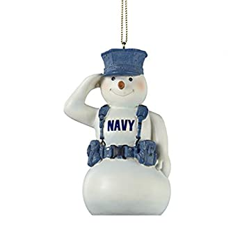 Amazon.com: United States U.S. Navy Snowman Saluting in Gear ...
