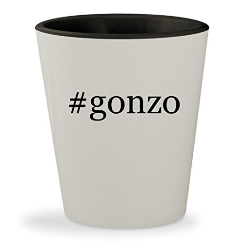 #gonzo - Hashtag White Outer & Black Inner Ceramic 1.5oz Shot - Glasses Com Chat Live
