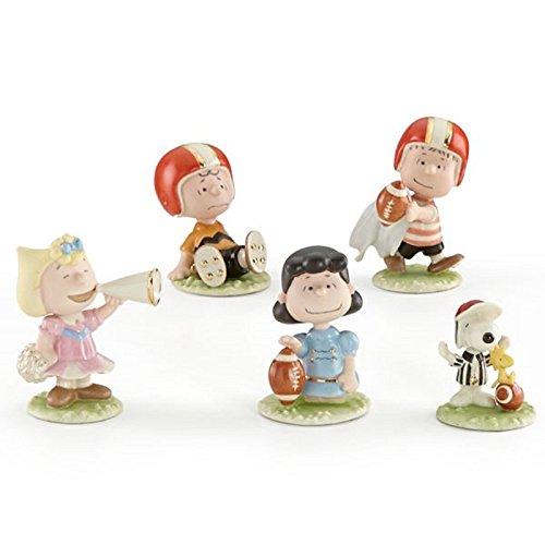 Lenox Peanuts Football Team Figurines Game Charlie Brown Snoopy Lucy Sally Linus ()