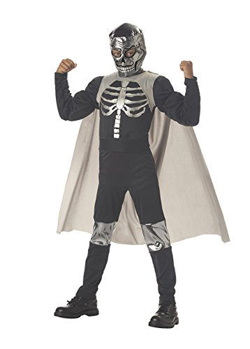 [El Muerto Luchadore Boys Costume - Child Size 10-12] (Childrens Nacho Libre Costume)