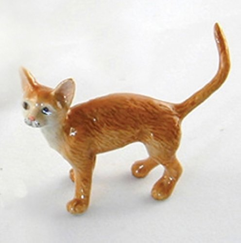 Dollhouse Miniatures Ceramic Burmese Cat No. 1 FIGURINE Animals Decor by ChangThai Design