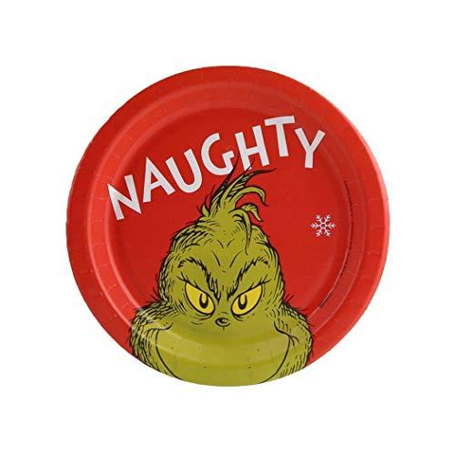Dr. Seuss Grinch Naughty Dessert Plate (24)