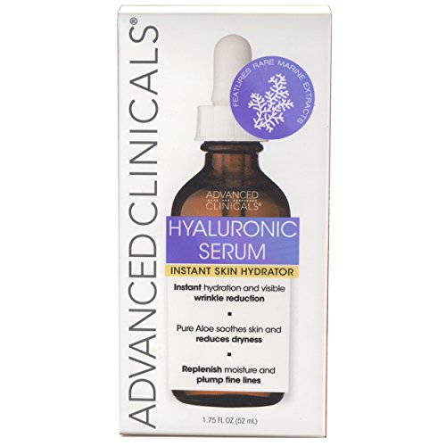 41l vjeKAtL - Advanced Clinicals Hyaluronic Acid Face Serum. Anti-aging Face Serum- Instant Skin Hydrator, Plump Fine Lines, Wrinkle Reduction. (1.75oz)