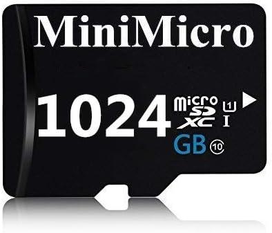 Tarjeta de memoria SD SDXC de alta velocidad de 512 GB//1024 GB 1024 GB clase 10 con adaptador SD