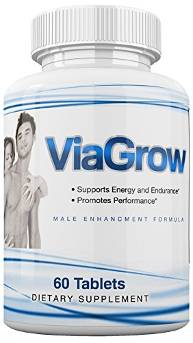 ViaGrow #1 Rated Male Enhancement Testosterone Booster - 60 Capsules - Increase Stamina, Size, Energy & More 1 Month Supply