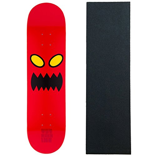 "Alien Workshop Toy Machine Skateboard Deck Monster FACE 8.0"" Black Grip"