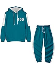 Gaming Green Tracksuit Suit Men Zip Up Hoodie Pants Two Piece Sweatshirt Set Squid Outfit Game Unisex 456 Green Tracksuit