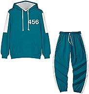 Gaming Green Tracksuit Suit Men Zip Up Hoodie Pants Two Piece Sweatshirt Set Squid Outfit Game Unisex 456 Gree