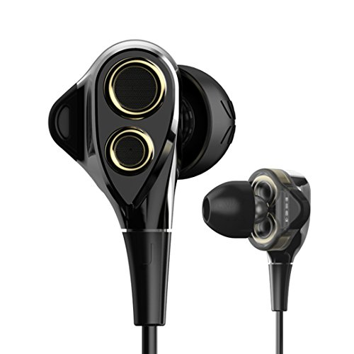 UIISII BA-T8S 2DD+1BA 6 Drives Hybrid Technology Earphone HiFi Noise Isolating Stereo with mic Monitor Headset 100% Original Box (Black/Gold)
