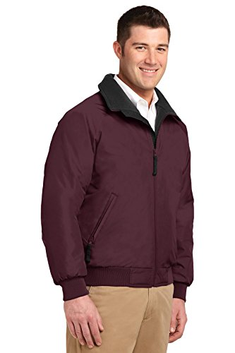 Parka hombre para Authority Black True Maroon Chaqueta Port qwfZEx