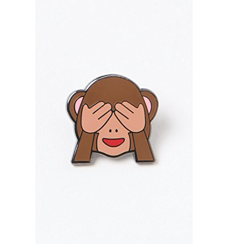 Pintrill Mens Monkey See No Evil Pin