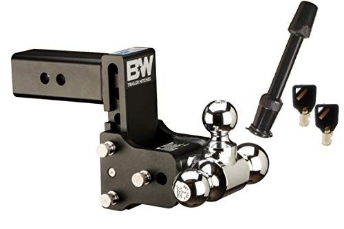 B/&W Trailer Hitches TS10038B 1-7//8 x 2 Class IV Double Ball Hitch