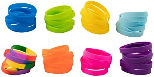 Silicone Bracelet 48 Pack Wristbands Circumference product image
