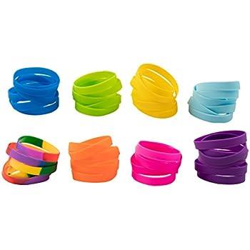 Amazon Com Silicone Bracelet 48 Pack Blank Rubber