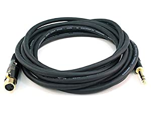 Monoprice 104771 15-Feet Premier Series XLR Female to 1/4-Inch TRS Male 16AWG Cable