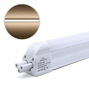 2×Auralum® T5 Tubos LED Tubos Fluorescentes Bombillas LED SMD2835 Blanco Cálido 2800-