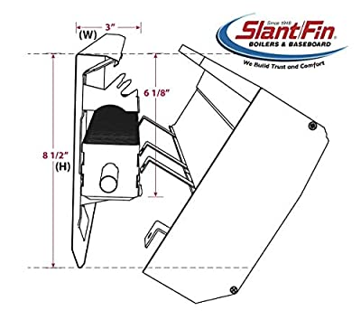 "Slant Fin Revital/Line Aluminum Baseboard Heater Cover Complete Replacement Kit with 2 End Caps - (8.5"" H x 3"" D) Available in Sizes 2-6 Feet - Maximum Heat Output, Brite White"