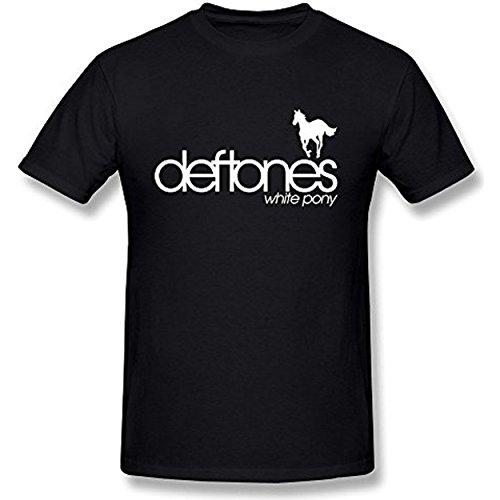 T da shirt uomo Deftones Pony Akton bianca di M 4qvwp74