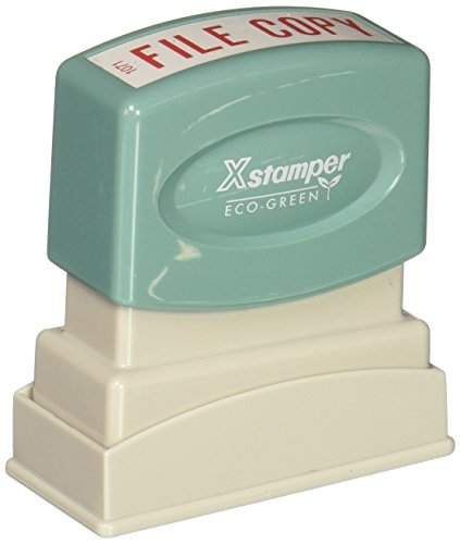 - Xstamper(R) One-Color Title Stamp, Pre-Inked,