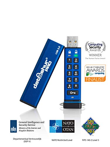 16gb Pro Flash Drive - iStorage datAshur Pro 256-bit 16GB USB 3.0 Secure Encrypted Flash Drive IS-FL-DA3-256-16