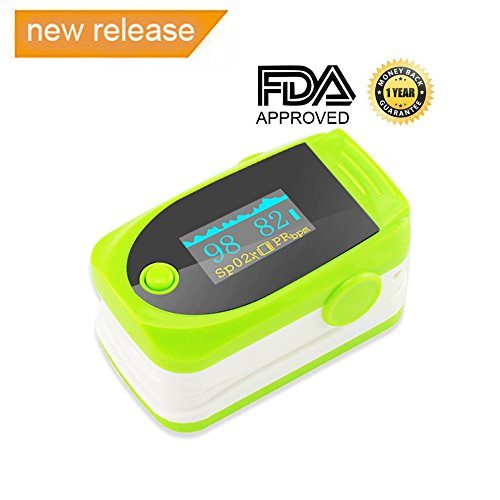 Vinmax Fingertip Pulse Oximeter Oximetry Blood Oxygen Saturation Monitor with Audio Alarm & Pulse Sound | Spo2 Monitor Finger Puls Oximeter,Green by vinmax
