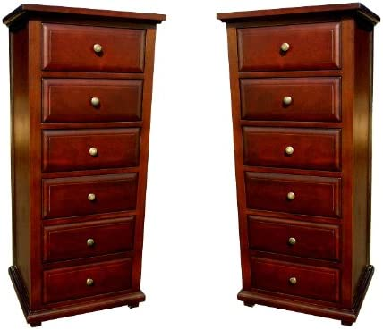 D-Art Java Chest 6 Drawers Set of 2 pcs in Mahogany Wood