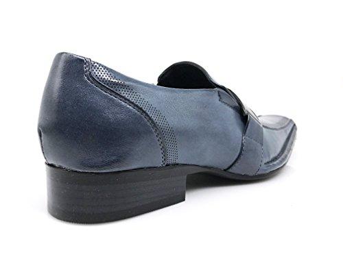 Mens On Strap Classic Dress Blue Buckle Slip Loafer Shoes STN dTgXOwxaqd