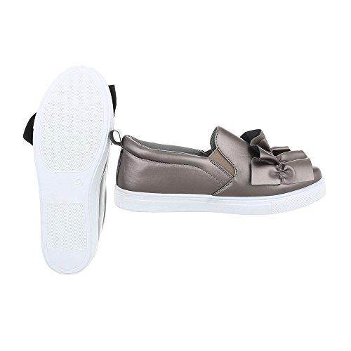 Donna 26 G Ital Low Grigio Sneaker da Argento Piatto Sneakers Scarpe Design Uxnaq1wf