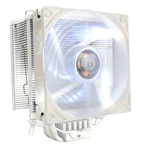 PLAIPH Cooling Fan, CPU Heat Sink AMD/775/1155 Intelligent Thermostat 5 Heat Pipe Radiator for Intel and AMD Desktop Computers