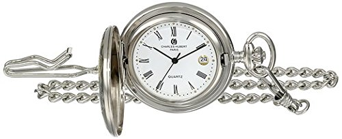 Charles-Hubert, Paris Women's 3559-T Classic Collection Analog Display Quartz Silver Pocket Watch by CHARLES-HUBERT PARIS