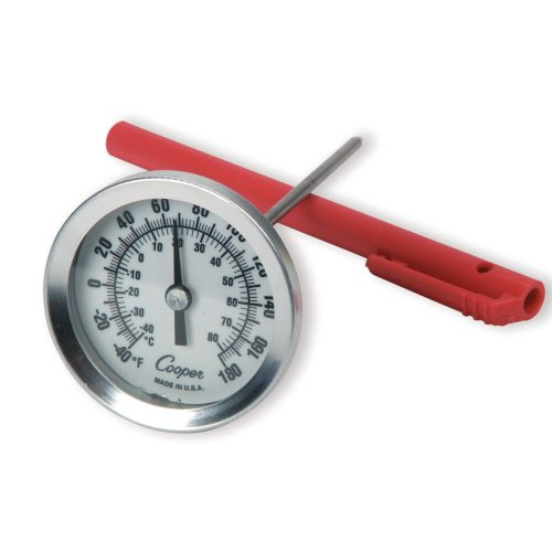 (Cooper-Atkins 2236-02-1 Stainless Steel Bi-Metals Test Thermometer, 2