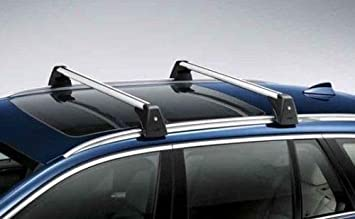 Alu Dachträger Tiger schwarz BMW 2er F46 Gran Tourer ab 15 aufliegende Reling