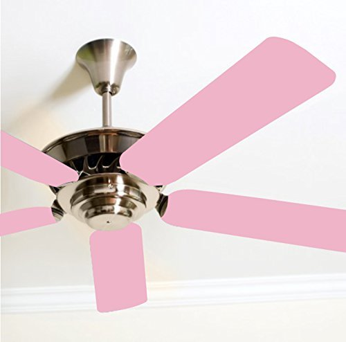 Fancy Blade Ceiling Fan Accessories Blade Cover Decoration, Solid Bubblegum Pink