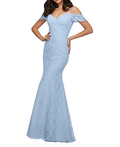 Elegant Himmel La Lang Jugendweihe mit Blau Partykleider Spitze Kleider Brautjungfernkleider Abendkleider mia Brau Spitze qwFfEgw