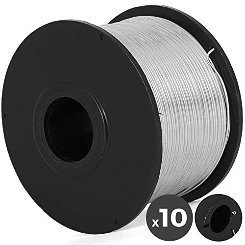 Mophorn 10 Rolls Rebar Tie Wire Coil For Automatic Rebar Tying Machine and Electrical Equipment Supplies