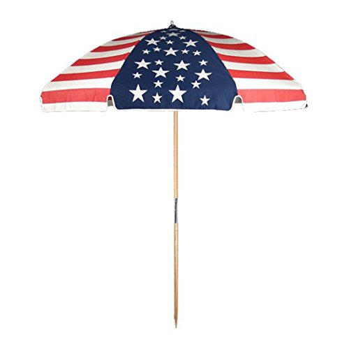 - 7.5 ft.Steel Commercial Grade Beach Umbrella with Ash Wood Pole & Carry Bag