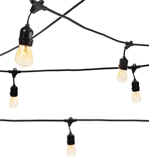 Outdoor String Lights With 15 E26 Sockets By Deneve : Outdoor String Lights with 15 E26 Sockets By Deneve - 48 Feet Long :: Indoor String Lights ...