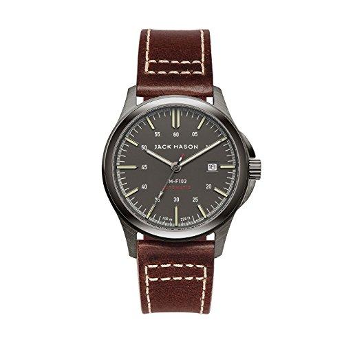 Jack Mason Men's Automatic Watch Field Brown Leather Strap by Jack Mason