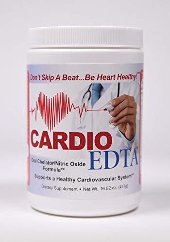 Cardio EDTA Nitric Oxide - (16.82 Ounce Powder with Scoop) - L Arginine 5000mg - L Citrulline 1000mg - CoQ-100 100mg