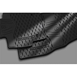 Mazda3 2010, 2011, 2012 All Weather Black Rubber Floor Mats, Genuine Parts