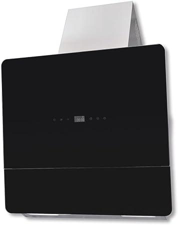UnfadeMemory Campana Extractora de Cocina con Panel Sensible,Decoracion de Cocina,3 Niveles de Velocidad,2 Luces LED,Filtro Carbon,720m³ / h,Acero Inoxidable,600x360x900mm (Negro): Amazon.es: Hogar