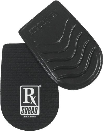 Rx Sorbo Insoles 100% Sorbothane Classic Heel Pad, Large