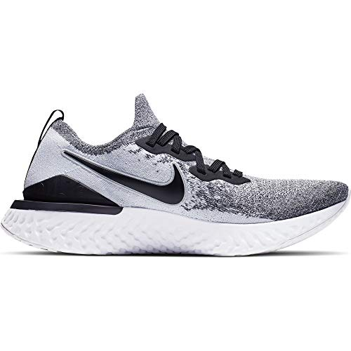 Nike Epic React Flyknit 2 Men's Running Shoe White/Black-Pure Platinum 14.0