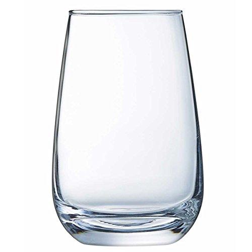 Sire De Cognac Hi Ball Tumblers 12.3oz / 350ml - Set of 6 - Rum Glasses, Purity Certified Glass Arc International