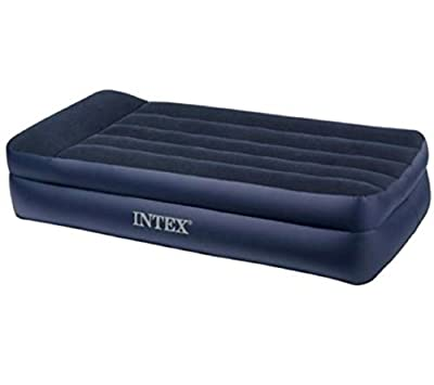 Intex Pillow Waterproof vinyl beams Rest Raised Airbed with Built-in Pillow and Electric Pump Twin added comfort