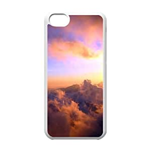 Custom Colorful Case for Iphone 5C, Sunset Cloud Cover Case - HL-696337