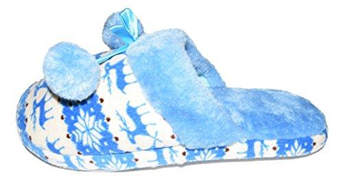 Unbekannt - Zapatillas de estar por casa de tela para mujer Azul - azul
