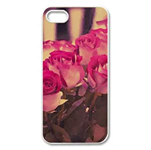 Roses Bouquet Watercolor style Cover iPhone 5 and 5S Case (Flowers Watercolor style Cover iPhone 5 and 5S Case)